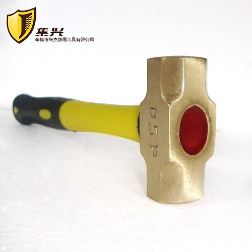 Jixing brand 0.5lb Brass octagonal hammer plastic handle / brass hammer / copper hammer / hammer