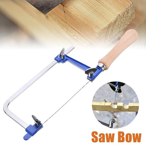 60mm Adjustable Saw Bow with Saw Blade U Shaped Woodworking Saw Bow Jewelry Saw Frame DIY Making Tool Saw Hand Tool