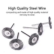 Durable 20pcs 25x3mm Steel Wire Wheel Brush for Mini Drill Rotary Tool Metal Rust Removal Dremel Polishing Brushes