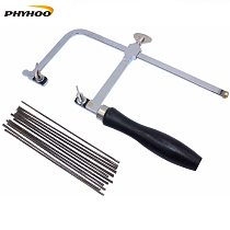 Professional Adjustable Saw Bow with 144 pcs Saw Blade Jewelry Saw Frame Hand Tools Saw Frame DIY Jewelry Making Tool