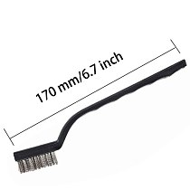 12PCS set Clening Wire Brushes Mini Stainless Steel DIY Paint Rust Remover Removal Rugged Cleaning Polishing Detail Metal Brush