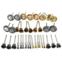 New 36Pcs Brass Brush Steel Wire Wheels Brushes Drill Rotary Tools Polishing Dremel Rotary Tools Metal Rust Removal Brush Set