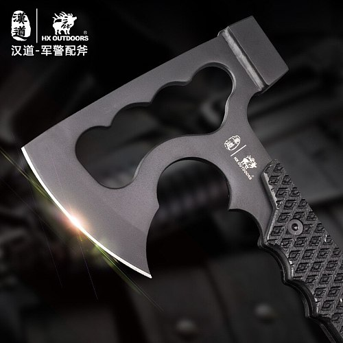 HX OUTDOORS High quality Rescue Multifunctional Explosion-proof Axe Camp Artillery Fire Rescue Axe Hammer
