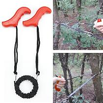 Woodworking Pocket Hand Chainsaw Heavy duty Manganese Survival Wire Saw Camp Hike Outdoor Hunt Fish Tool Cut Cutter Wood Forest