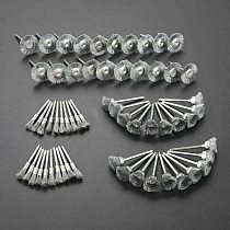60pcs 3mm Shank Electric Tool Steel Wire Wheel Brushes Cup Rust Accessories Rotary Tool for the engraver abrasive materials