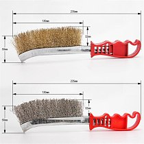 Copper Stainless Steel Wire Brush with Handle Metalworking Rust Removal Cleaner Polishing Hand Tools