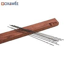 GOXAWEE 12 pcs 130mm Scroll Saw Blades Jig Saw Blades Spiral Teeth Wood Saw Blades and 12pcs Metal Saw Blades Straight Teeth