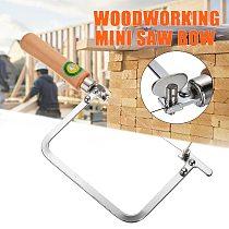 Adjustable Saw Frame Sawbow U Shape Saw Hacksaw DIY Hand Tools with 2pcs Sawblades for Jewelry