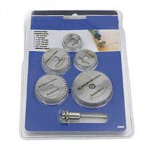 Mini Portable 5pcs Saw Blade Set + 1pcs Mandrel HSS Circular Rotary Blade Wheel Discs Mandrel For Tools Wood Cutting Saw