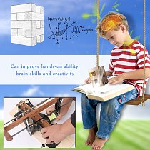 Safe Hand Saw Set for Children DIY Woodworking Arm Saws with Saw and Wooden Base