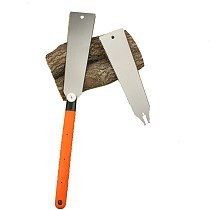 Pull Hand Saw with Double Edge Toothed Spare Blade Multifunction for Hardwood Woodworking Tools