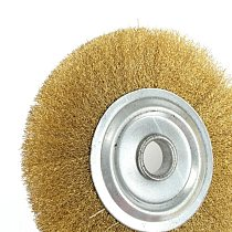5Inch 125mm Wire Brush Pure Copper Wire Wheel Round Brass Brush New Wire Brush Wheel For Bench Grinder Metal Polishing Deburring