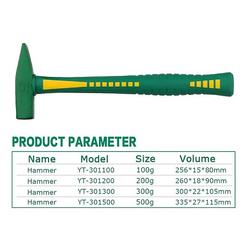 Machinist Hammer 100g/200g/300g/500g Beating Nail Installation Hammer For Safety Mallet Multi Woodworking Tools