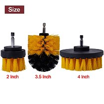 Electric Drill Brush Kit Power Scrubber Drill Brush Plastic Round Cleaning Brush For Carpet Car Tire Grinding Polishing Tool