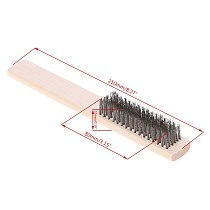 1pcs Stainless Steel Wire Brush Paint Removal Cleaning Metal Polishing Rust Cleaning Brushes Clean Tools Hand Tools