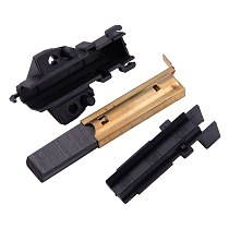 LETAOSK 2pcs New Black Washing Machine Sole Motor Carbon Brushes Clean Tool Fit For Electrolux 5.8x3.5x3.4cm