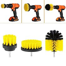 3Pcs Drill Power Scrub Clean Brush For Leather Plastic Wooden Furniture Car Interiors Cleaning Power Scrub 2/3.5/4 inch New O28