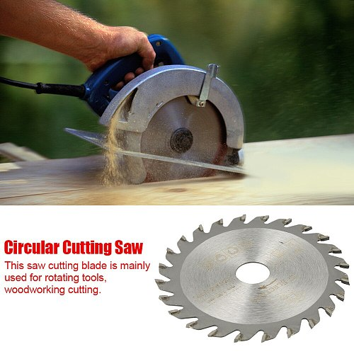 85mm x 15mm 24 Teeth Cemented Carbide Circular Cut Saw Woodworking Tool Cutting Disc