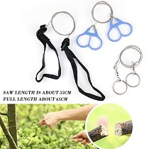 Portable Gear Pocket Outdoor String Wire Saw Carbon Ring Scroll Travel Camping Hand Stainless Steel Rope Chain Saws Wood Tools