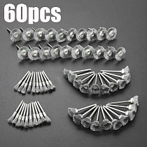 60Pcs 3mm Shank Steel Wire Wheel Brushes for Metal Rust Removal Polishing Brush Steel Rotary Brush for Mini Drill Rotary Tool