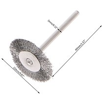 10pcs 22mm Platinum Blade Stainless Steel Wire Wheel Brush Dremel Rotary Tool for Mini Drill Dremel Polishing Dremel Accessories