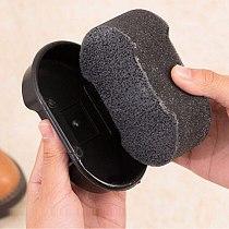 1 Pcs Black Brush Leather Polishing Cleaning liquid wax shining Sponge polisher Shoe Boot bag sofa Sponge Brush