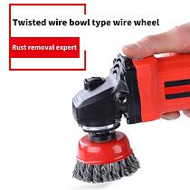 Rotary Knot Flat Cup Wire Wheel Brush For Angle Grinder Rust Removal 75mm Steel Wire Knot Flat Wire Wheel Cup Brush Set Kit