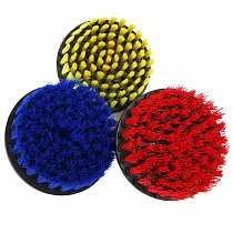 DANIU 5 Inch Red/Yellow/Blue Bristle Electric Drill Cleaning Brush for Dust Removal Scrubber Cleaning Brush Tub Cleaner Tool Kit