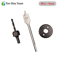 3pcs/set woodworking Hole Saw 54MM Hole Saw 22MM Flat Drill Door Lock Opening Tool High Carbon Steel Reamer Drill Bits Tool Set