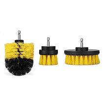 3pcs/set 2/3.5/4 inch Drill Power Scrub Clean Brush For Leather Plastic Wooden Furniture Car Interiors Cleaning Power Scrub Hot