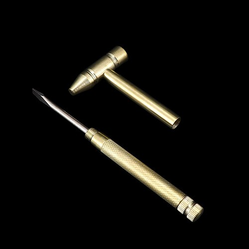 Home Practical Tool Hammer For Hand Mini Multifunction Copper Tools Detachable Hammers Metal Micro Screwdrivers 4-in-1