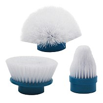 Electric Cleaning Brush Head Spin Scrubber Replacements Brush Head Cleaning Brush Head ABS, Silicone