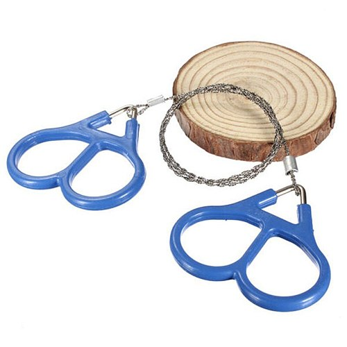 Outdoor Plastic Steel Wire Saw Ring Scroll Travel Camping Emergency Survival Gear Climbing Survival Hand Tool