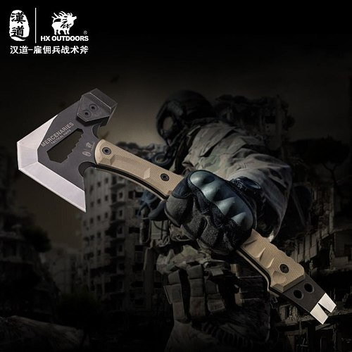 Tactical Engineer Axe Fire Rescue Axe Camp Artillery Hammer Firefighter Camping Supplies Axe Tomahawk Survival Knife G10 Handle