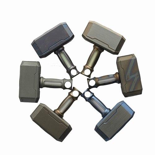 Titanium Alloy Hammer Man Knife Beads Tritium Gas Light Self-luminous For 15 Years EDC Multi Tools Car Pendant Hanging Hammer