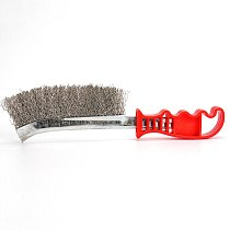 2pcs Stainless-Steel Wire Brush For Cleaning Metal Rust Removal Welding Seam Metal Polishing Rust Cleaning Brush Tool