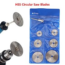 HSS Circular Saw Blades Set Dremel Accessories for Wood Cutting Disc Rotary Tools 7pcs For Dremel Power Tools Rotary Tool