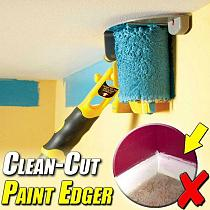Clean-Cut Paint Edger Roller Brush Safe Tool Portable for Home Room Wall Ceilings Paint Edger Roller