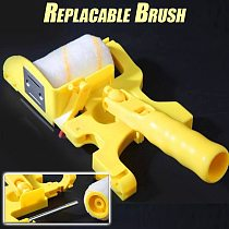 Paint Edger Roller Brush Paint Edge Banding Machine Tool Portable for Home Room Wall Ceilings Replacable Brush For Narrow Space