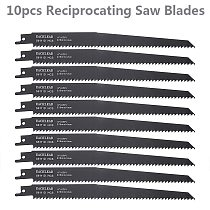 10pcs 9  Reciprocating Saw Blades for Wood Metal Cutting Power Tools Accessories
