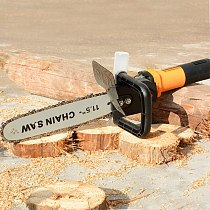 Eletric DIY Chain Saw Converter Chainsaw Bracket Tree Felling Saw Changed Angle Grinder into Chain Saw for Woodworking Tool