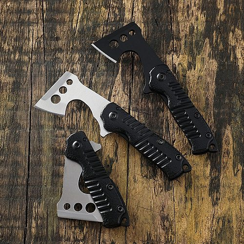 Outdoor folding knife mini small axe EDC keychain pendant pocket knife portable knife self-defense knife folding knife