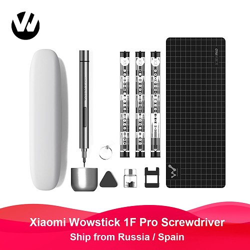 Wowstick 1F Pro Mini Electric Screwdriver Rechargeable Cordless Power Screw Driver Kit LED Light Lithium Battery Operated
