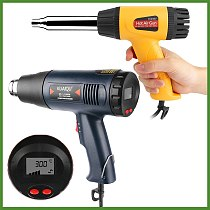 New  Electric Hot Air Gun stepless Adjustable Temperature-controlled Thermal blower heat gun for Building 220V  50Hz EU Plug