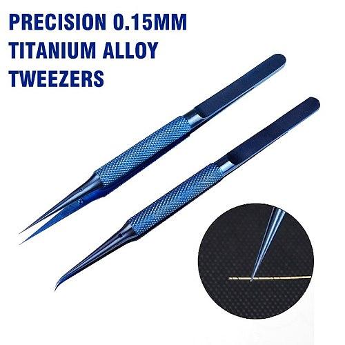 DSPIAE Precision 0.15mm Titanium Alloy Tweezers Phone Motherboard Jump Line Repair Tool Hand Tool Corrosion Resistant New 2020