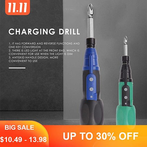 Big Torque Mini Electric Screwdriver USB Charging Electric Screwdriver Anti-slip Handle Drill Multi-function Drill Power Tools