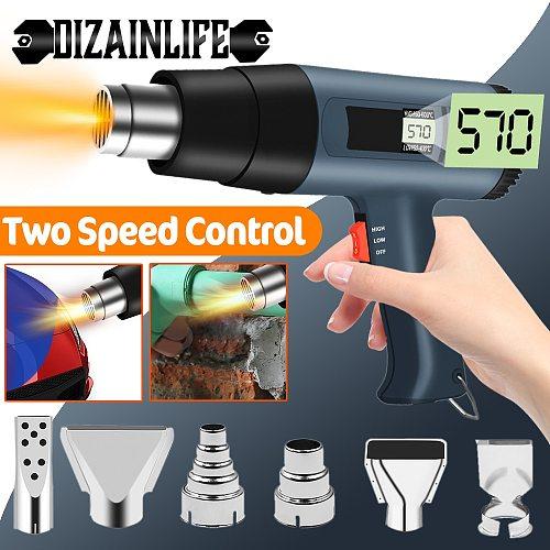 2000W 220V EU/US Digital Display Electric Hot Air Gun Building Hair Dryer Heat Gun Soldering Thermal Power Shrink Wrapping Tool