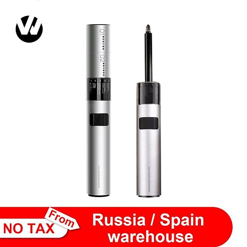 Xiaomi WOWSTICK Screwdriver SD 36 Bits 3LED Lithium Battery Rechargeable Screw driver Kit Magnetic Suction One Button Design