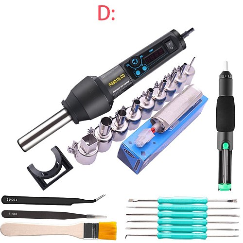 EU Heat Gun Electric Hot Air Gun DIY Using Electric Power tool with supporting seat 220V 300W Hair dryer soldering in Electric