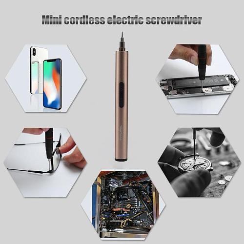 Mini Electric Screwdriver Precision Battery Power Tool Mobile Phone Camera Repair Tool Electronic Equipment Maintenance Tools